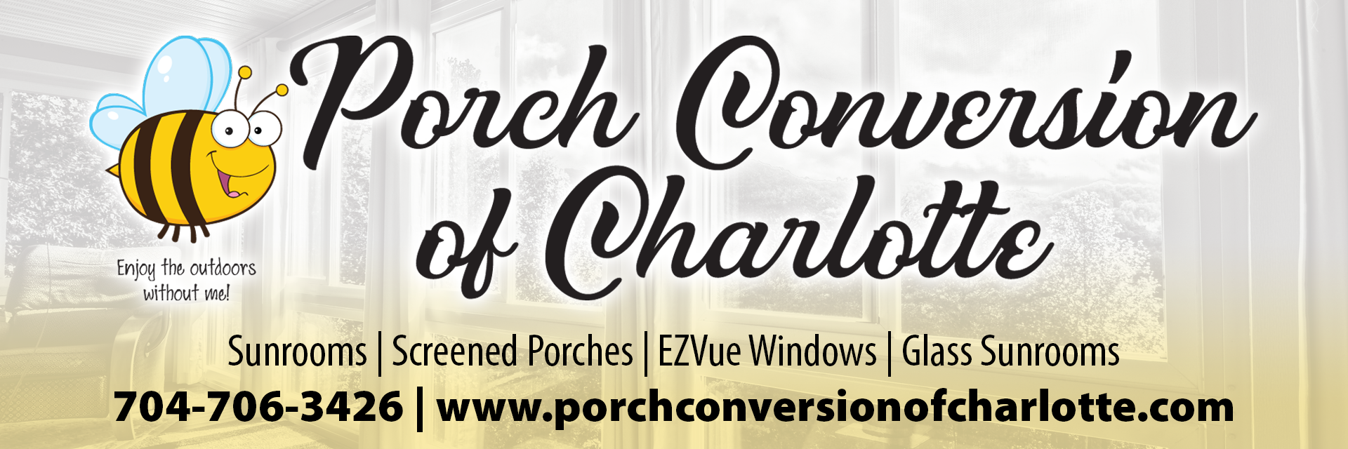 image shows Porch Conversion of Charlotte logo | Sunrooms | Patio Decks |Charlotte NC