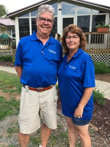 image shows Brad and Kim Beachy, owners of Porch Conversion of Charlottee. Sunrooms, screened rooms, patio enclosures, porch conversion in Charlotte and Salisbury NC