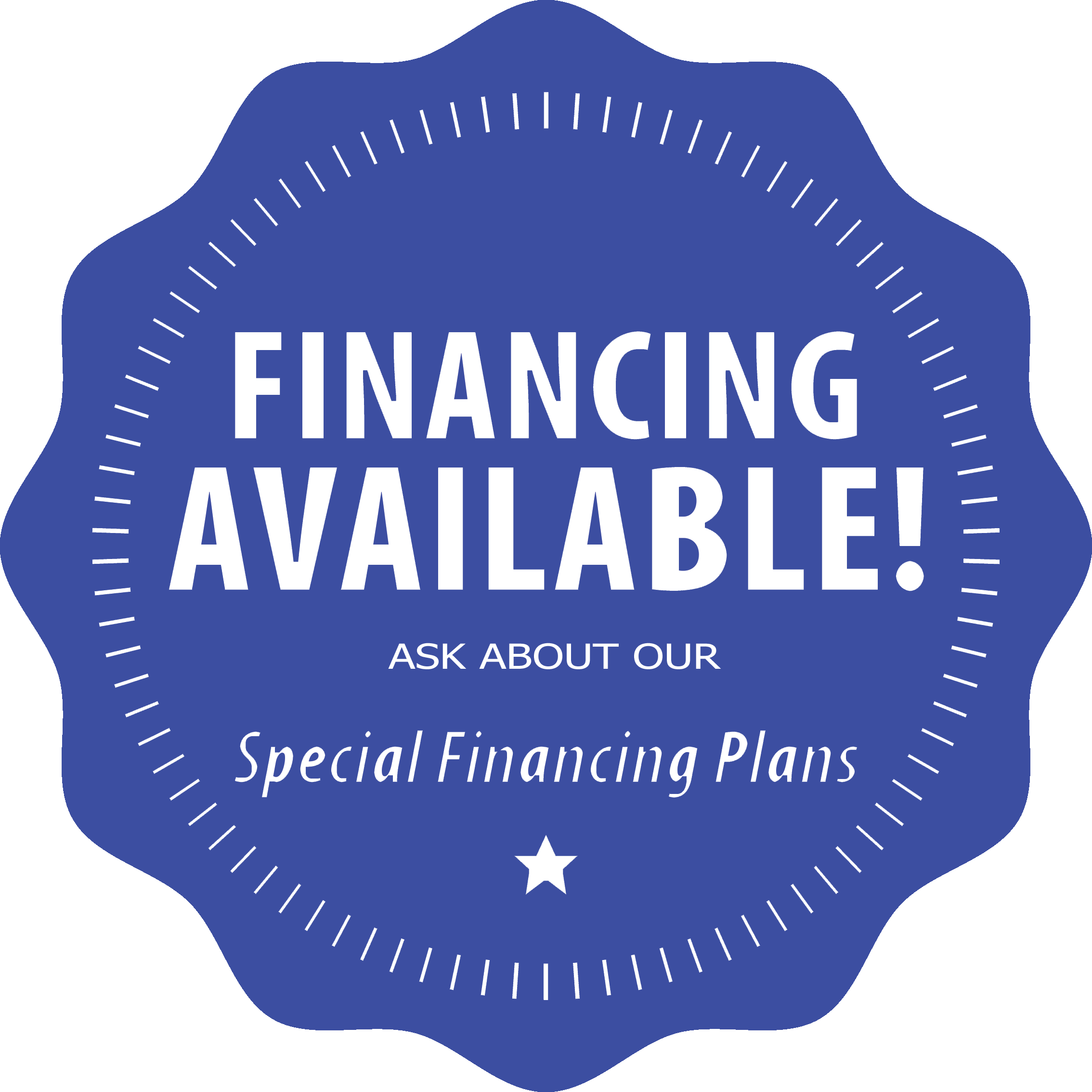 image shows financing available icon. Porch Conversion of Charlotte can help finance a new sunroom for customers in Charlotte, Winston-Salem and Greensboro areas